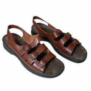 Clarks Springers Brown Leather Slingback Sandals